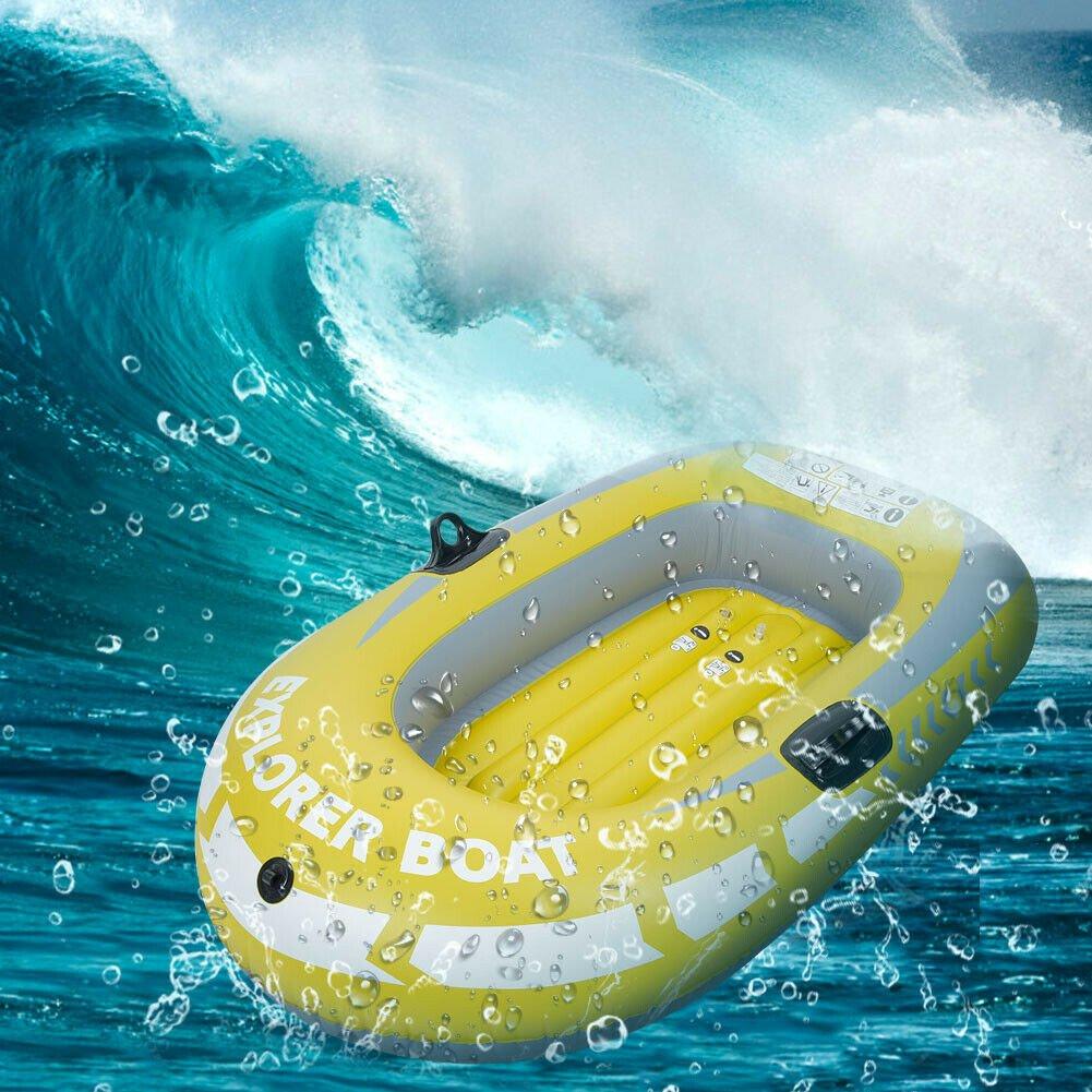 1//2//3 Person PVC Schlauchboot Angelboot Ruderboot Driften Diving Kanu Kajak