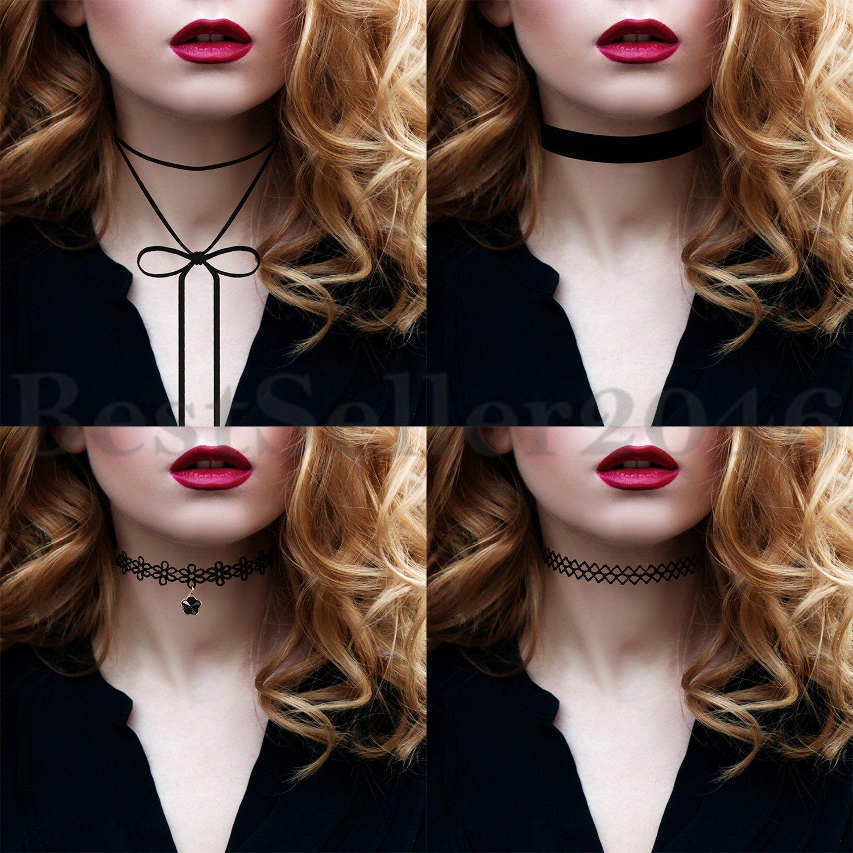 3-15PCS-Set-Lace-Velvet-Choker-Bib-Necklace-Chain-Collar-Women-Dress-Jewelry thumbnail 13