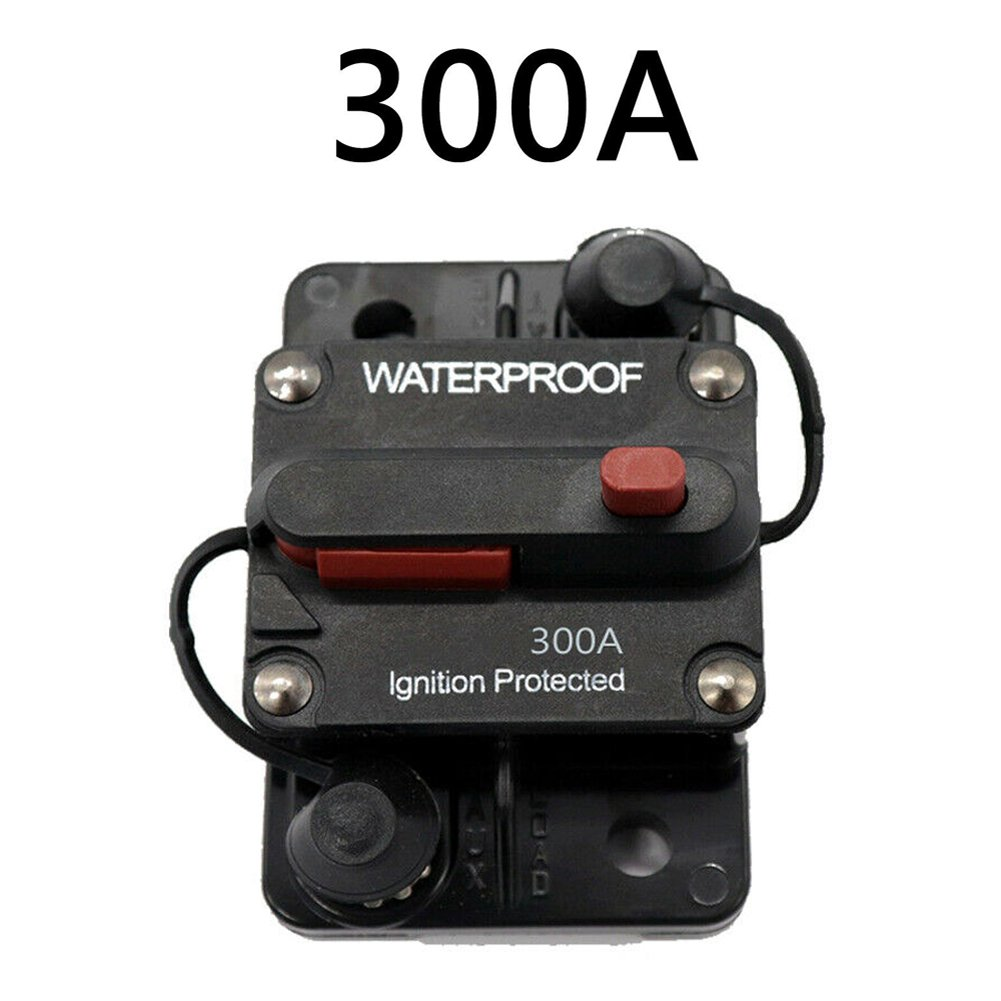 80A-300A AMP Circuit Breaker 12-48V DC Boat Auto automatic Fuse Reset Waterproof