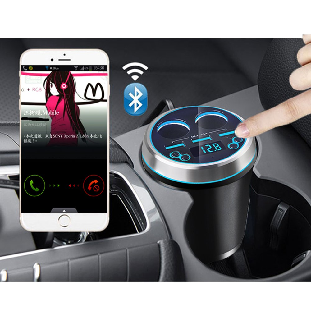 Bluetooth Car Kit Handsfree FM Transmitter Radio MP3 Player 3 Ports USB Charger 11