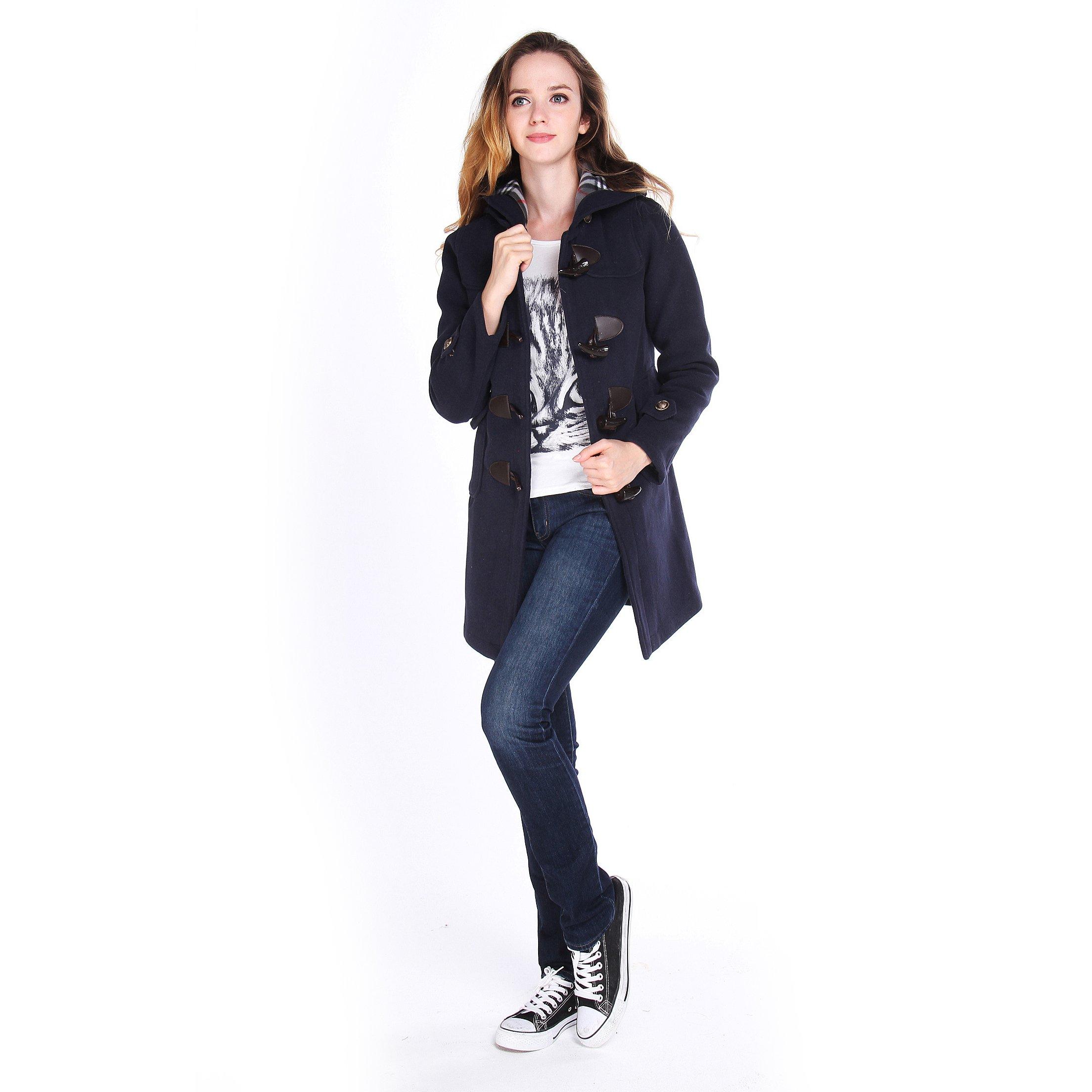 Women-039-s-Dress-Coats-Slim-Woolen-Coat-Hooded-Warm-Winter-Long-Outwear-Overcoat