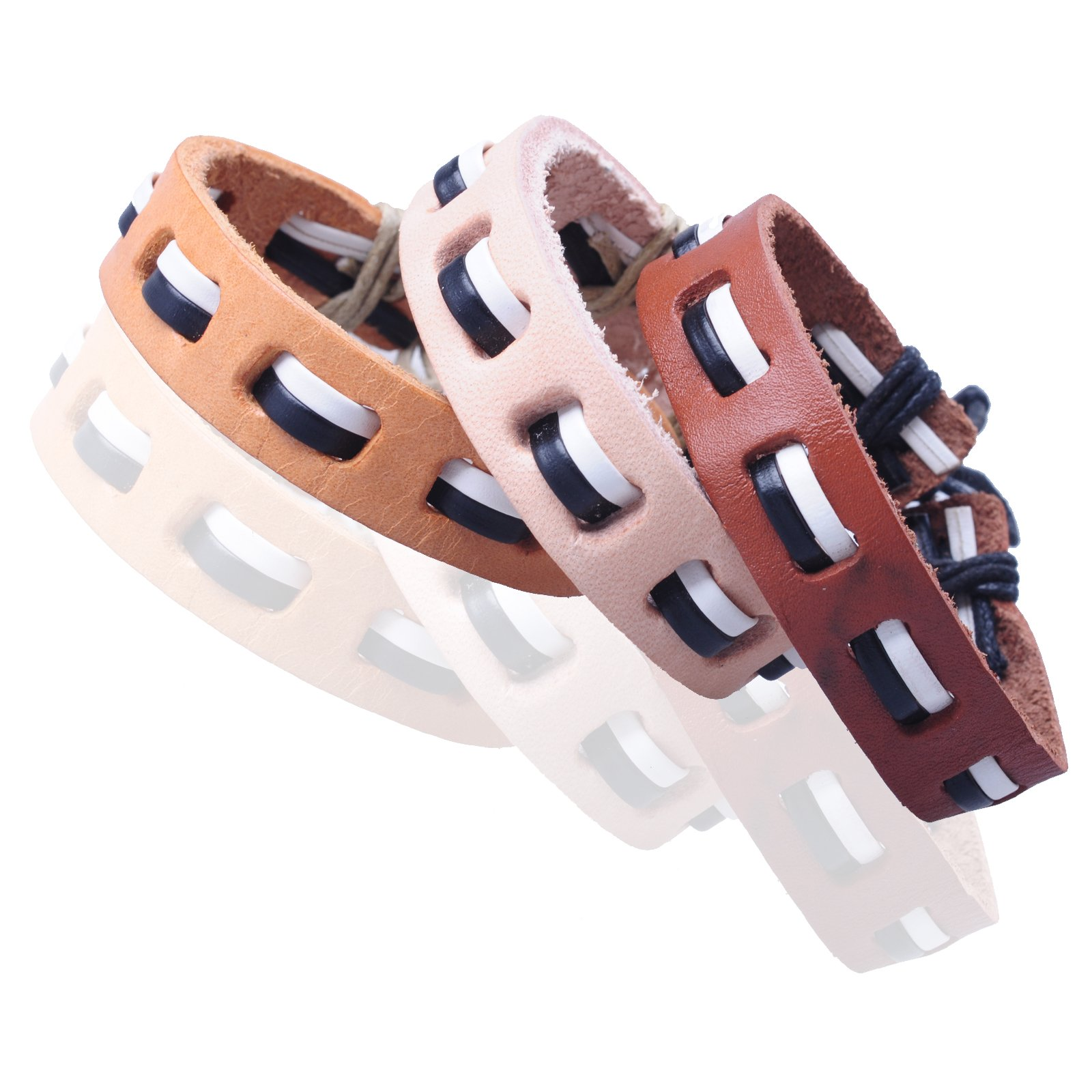 New-Fawn-Orange-Brown-Unisex-Genuine-Leather-Adjustable-Bracelets-Gift-086USANNA miniature 22