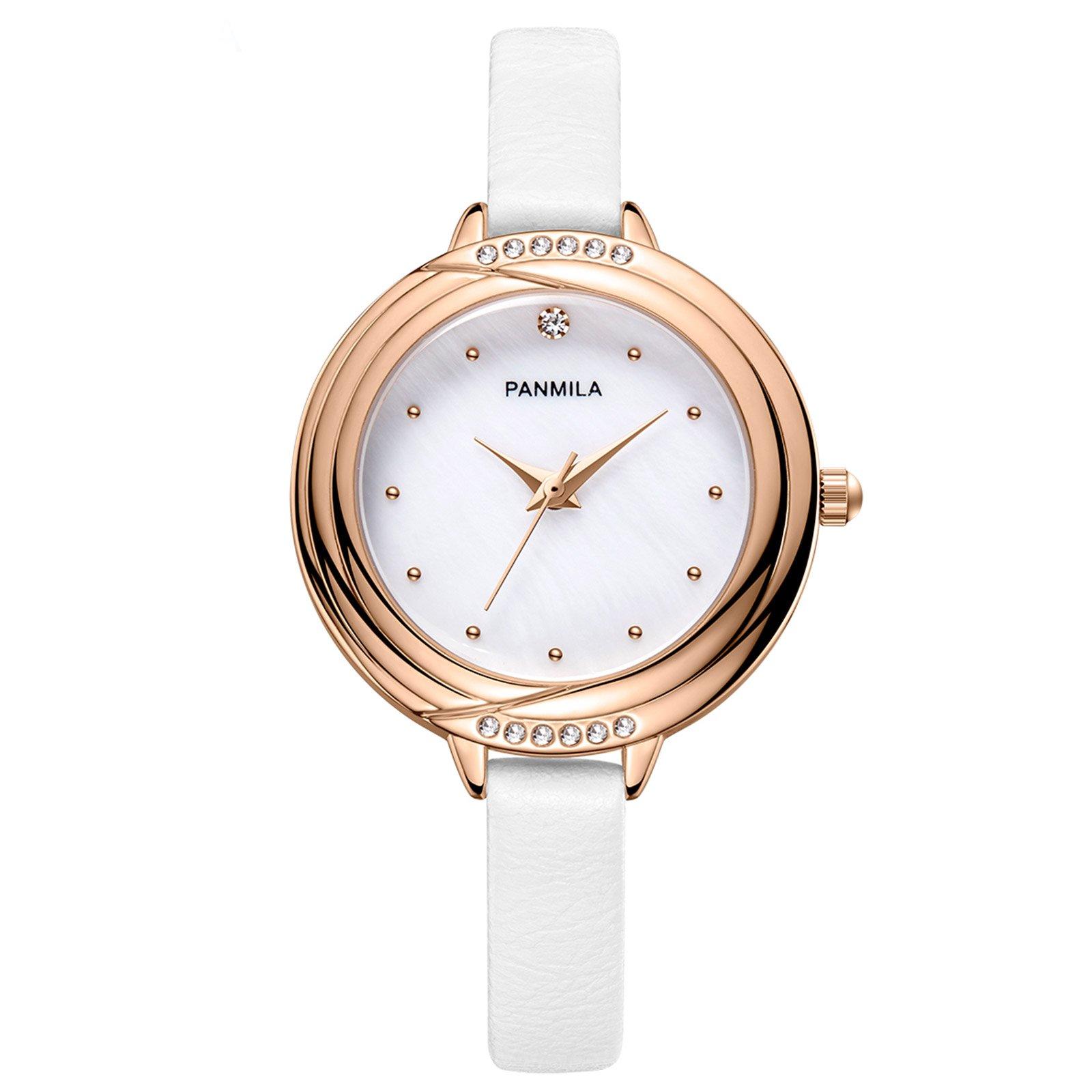 Rose-Gold-Wrist-Watch-for-Women-Ladies-Girls-Crystal-White-Dial-Quartz-Watch