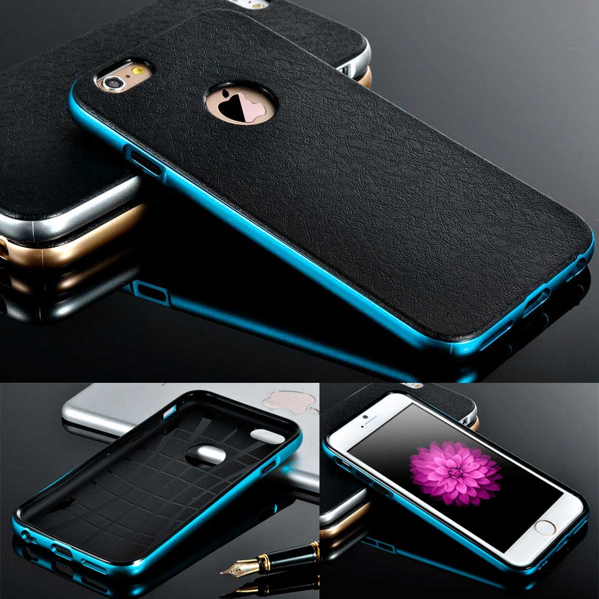 NEW Luxury Metal Bumper Silicone/Gel/Rubber Case Slim Cover for iPhone 5s 6 Plus
