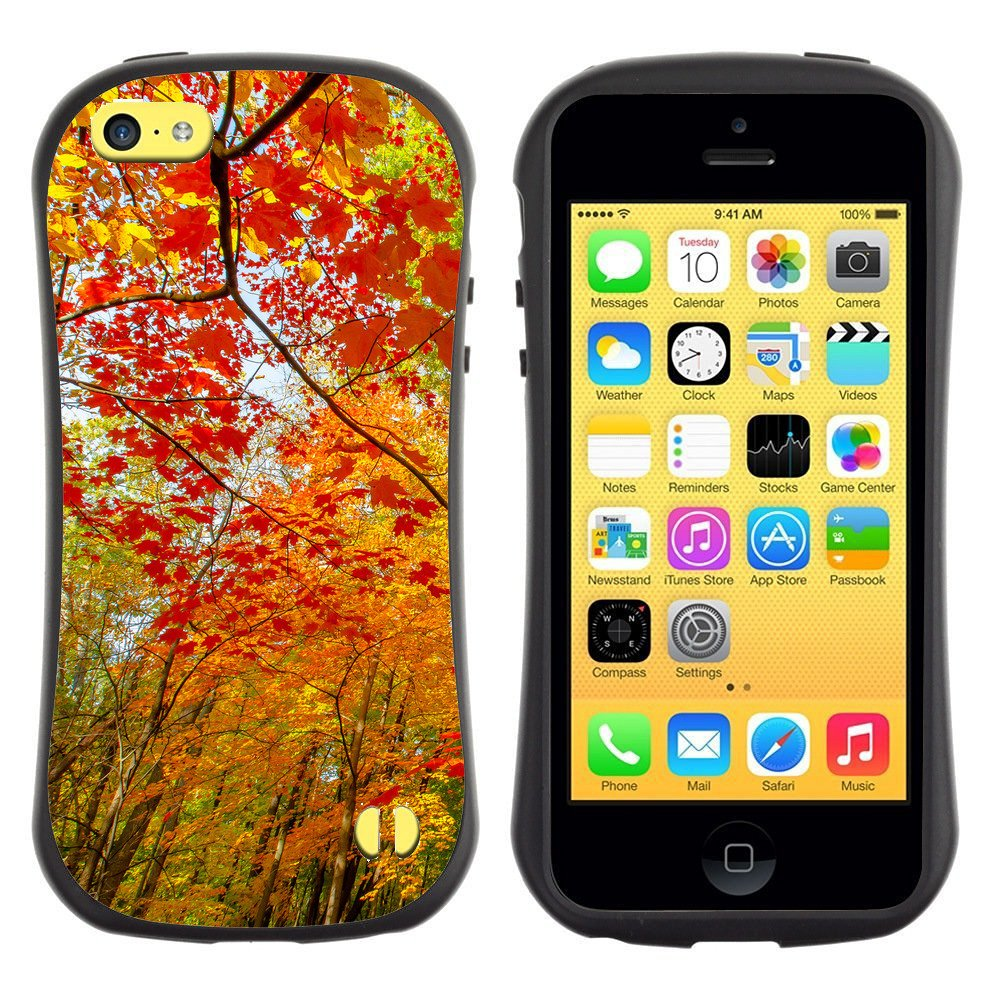 Anti-Shock-Tpu-Case-Bumper-Cover-For-Apple-iPhone-Red-and-yellow-autumn-forest