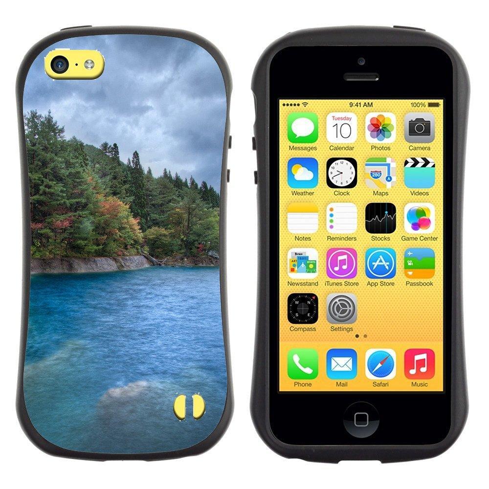 Anti-goutte-antichoc-Heavy-Duty-Case-For-Apple-iPhone-Deep-Forest-par-mer-bleue