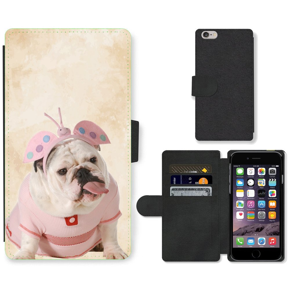 Phone-Card-Slot-PU-Leather-Wallet-Case-For-Apple-iPhone-english-bulldog-dusty