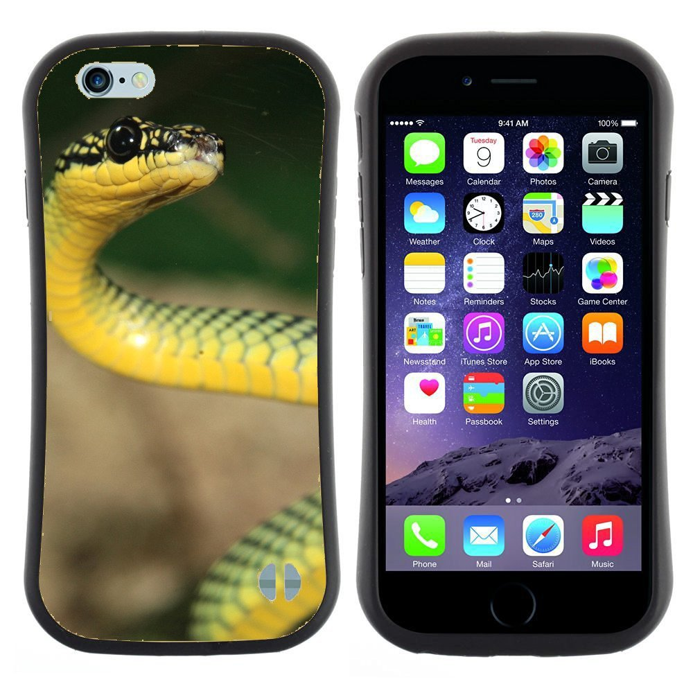 Anti-Shock-Tpu-Case-Bumper-Cover-For-Apple-iPhone-green-and-yellow-snake