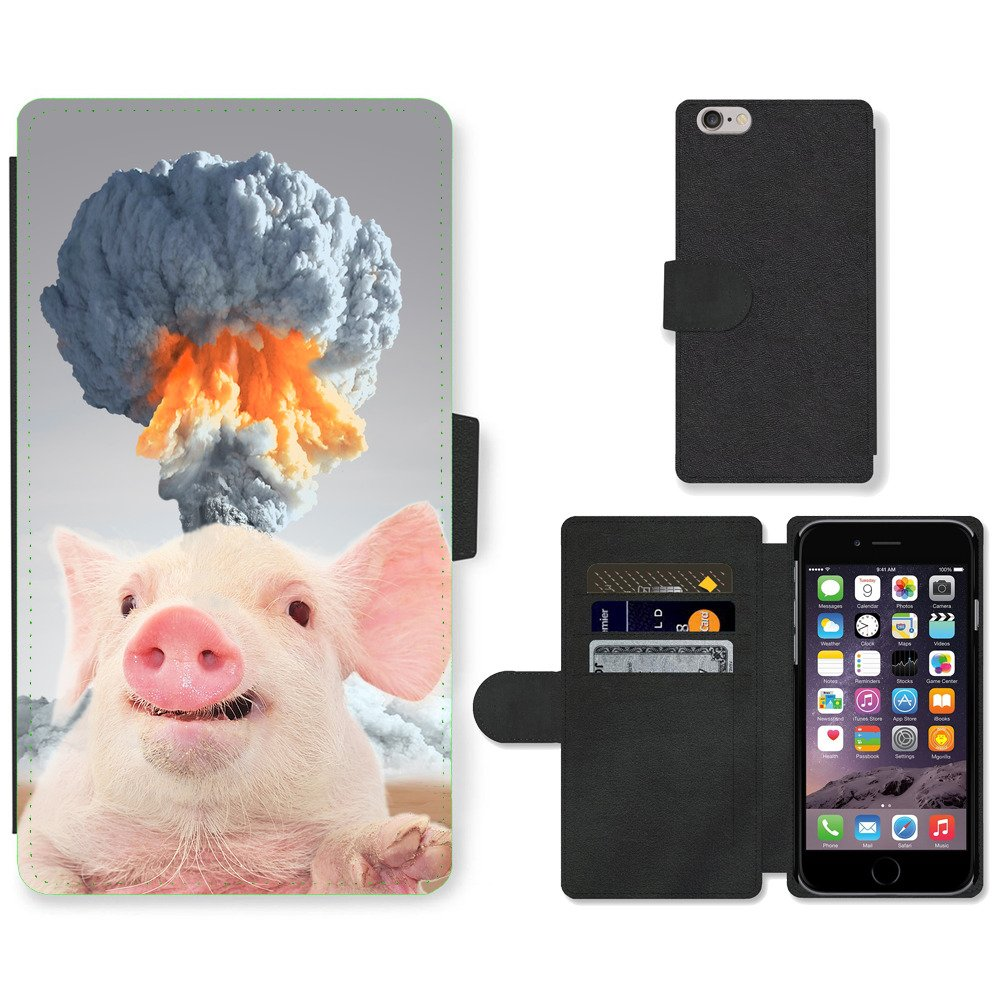 Phone-Card-Slot-PU-Leather-Wallet-Case-For-Apple-iPhone-cute-pig-Nuclear-explosi