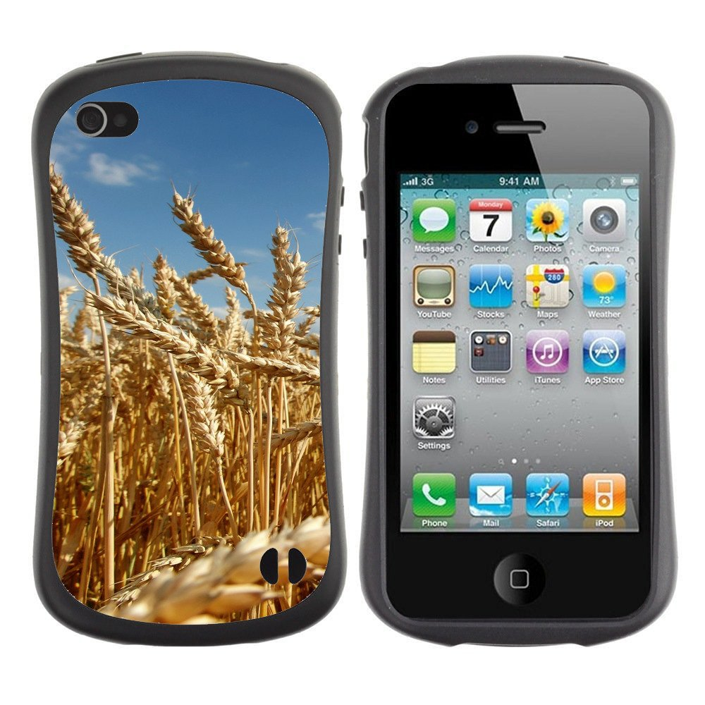 Anti-Shock-Tpu-Case-Bumper-Cover-For-Apple-iPhone-Mature-yellow-wheat-field