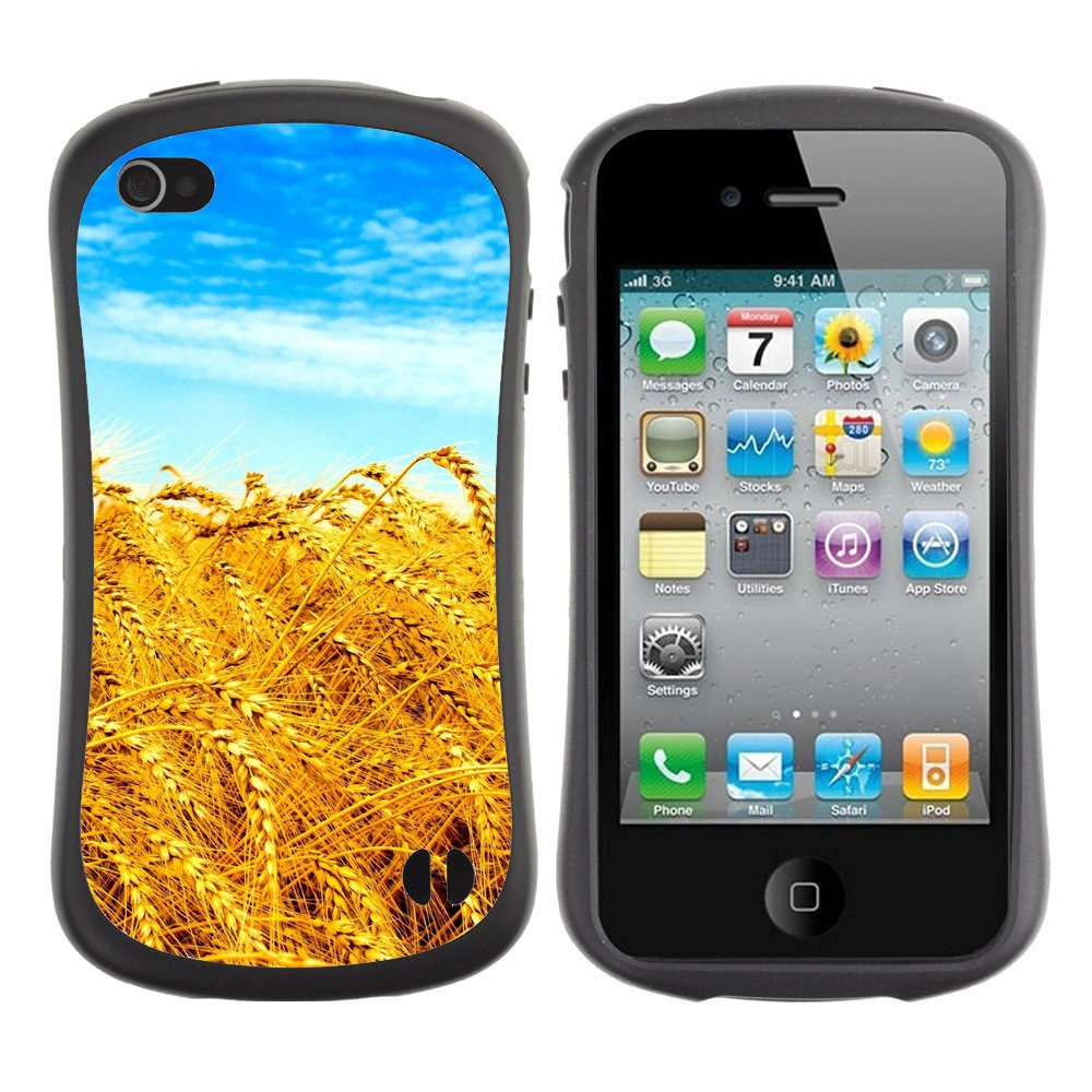 Anti-Shock-Tpu-Case-Bumper-Cover-For-Apple-iPhone-Yellow-wheat-field-sunny-day