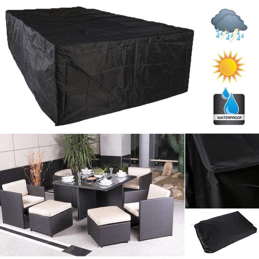 Garden Patio Furniture Set Waterproof Rattan Cube Table Sofa Outdoor Covers UK