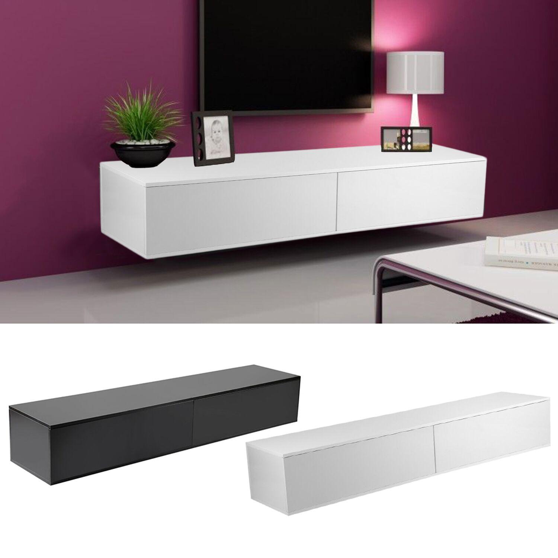 tv board rack fernsehschrank lowboard h ngeschrank hochglanz matt h ngend tre ebay. Black Bedroom Furniture Sets. Home Design Ideas
