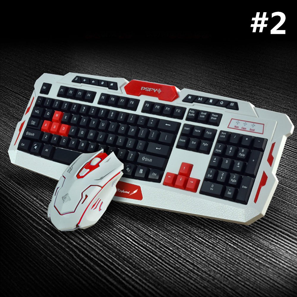 LOT Gaming Wireless 2.4G Keyboard and Mouse for Computer PC Multimedia Gamer TO 31
