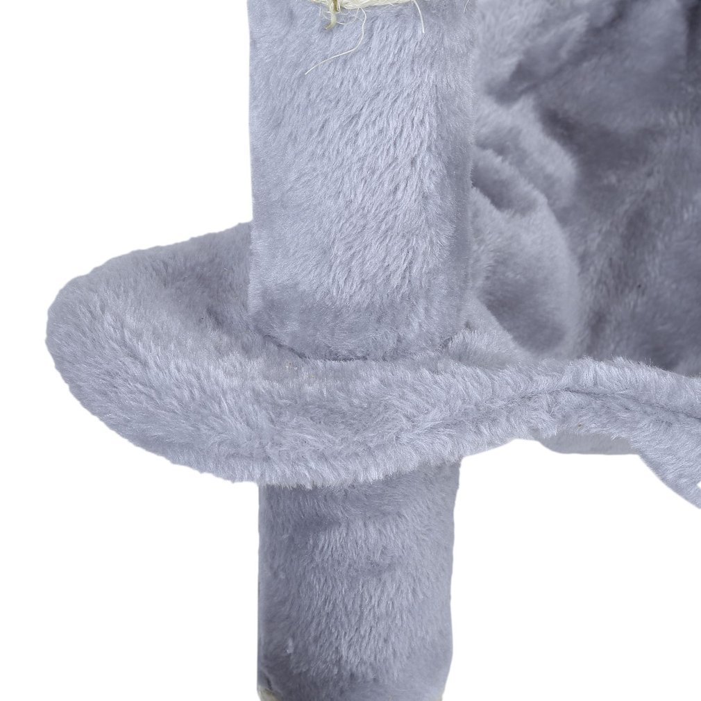 Cat-Tree-Scratching-Post-Activity-Centre-Grey-Fun-Play-House-143cm-4-colour thumbnail 13