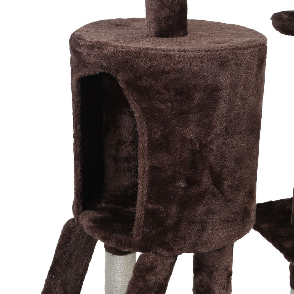 Cat-Tree-Scratching-Post-Activity-Centre-Grey-Fun-Play-House-143cm-4-colour thumbnail 47