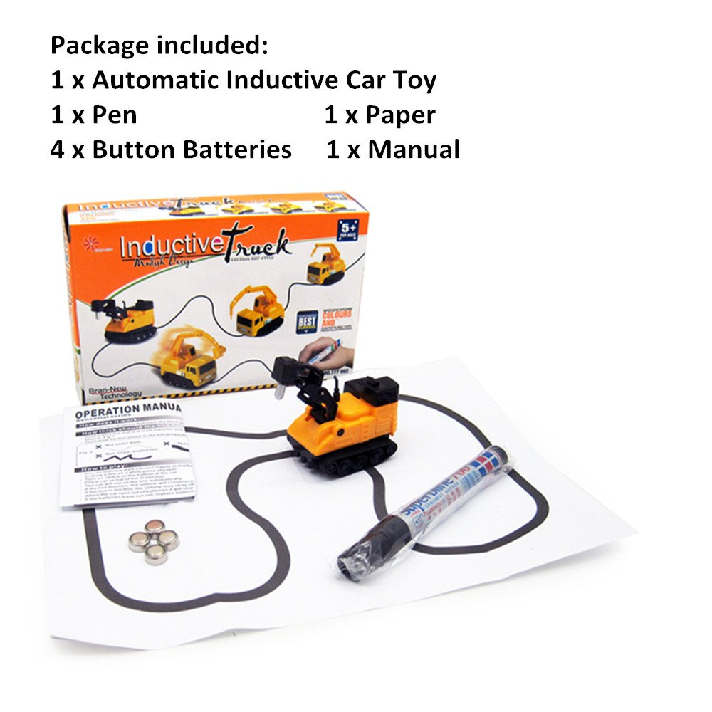 Best-Include-Battery-Follow-Any-Drawn-Line-Magic-Pen-Inductive-Toy-Car-Model-AU