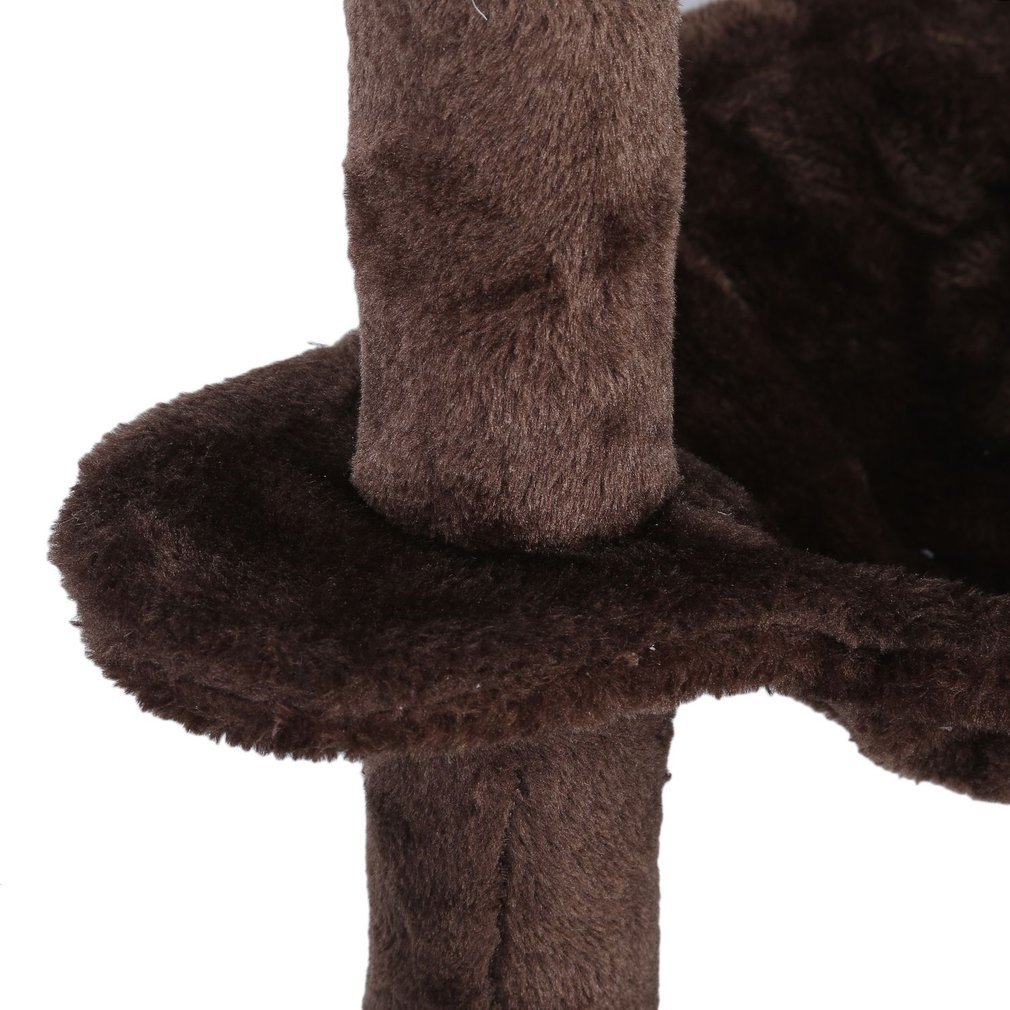Cat-Tree-Scratching-Post-Activity-Centre-Grey-Fun-Play-House-143cm-4-colour thumbnail 46