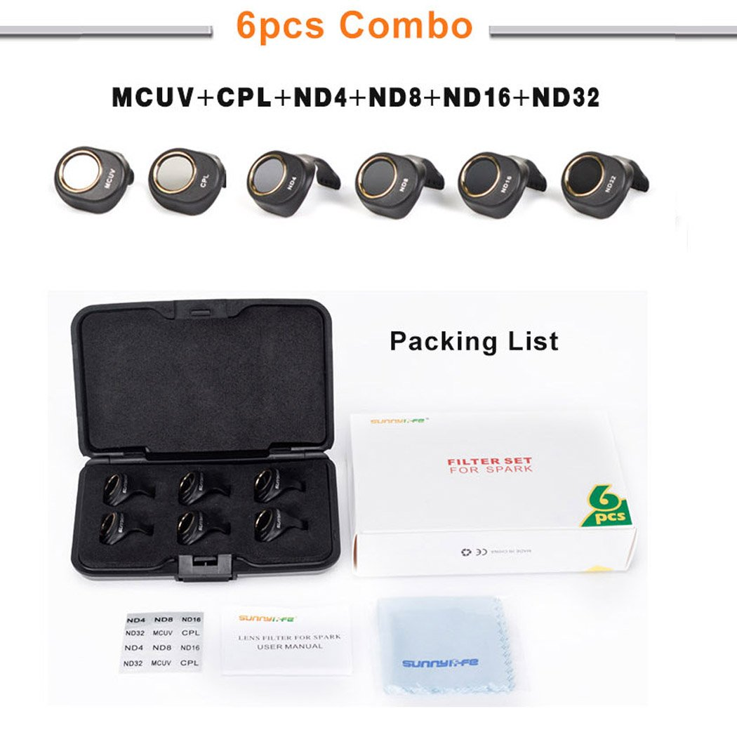 Camera-HD-Lens-Filter-For-Dji-Spark-MCUV-CPL-ND4-ND8-ND16-ND32-Parts-LOT-TI