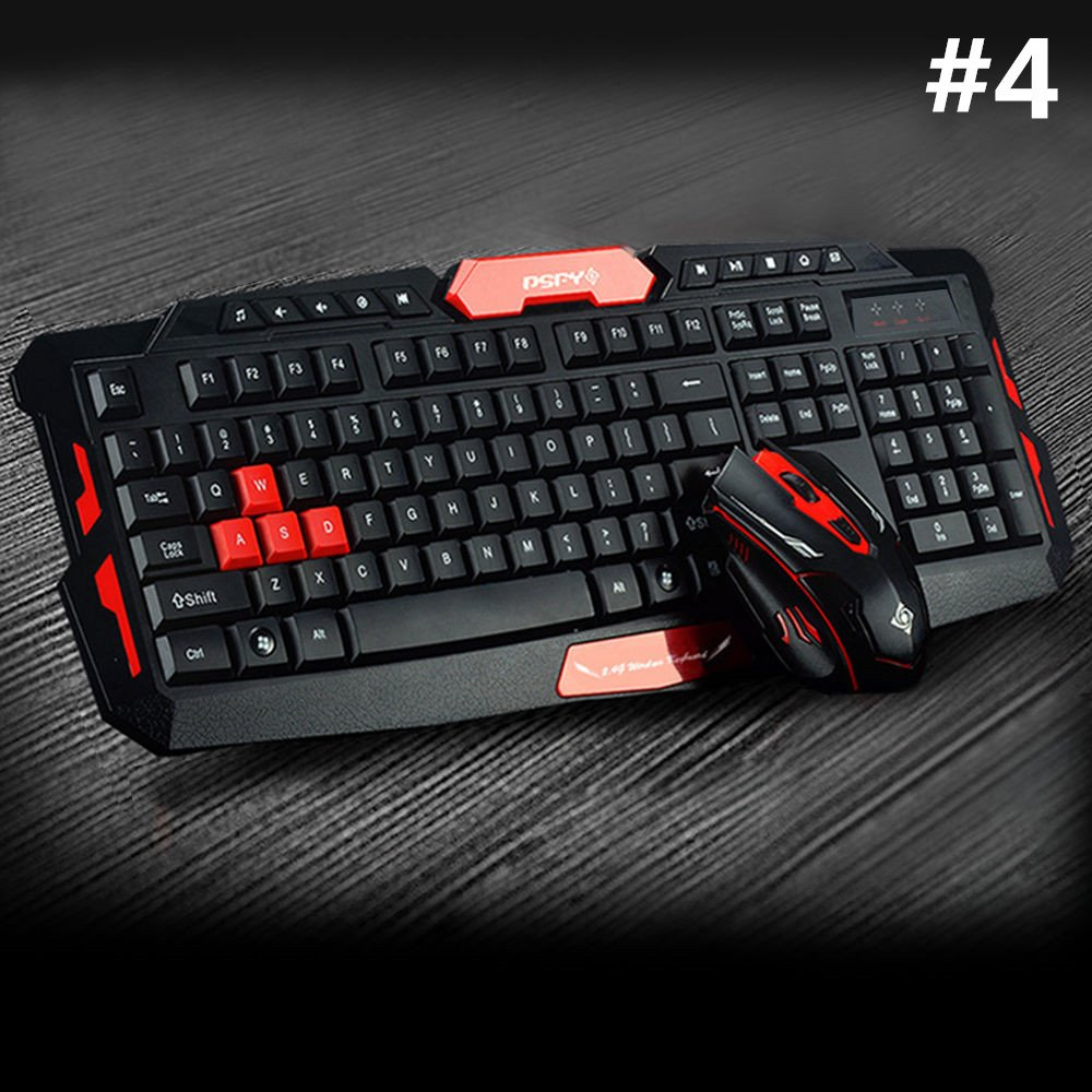 LOT Gaming Wireless 2.4G Keyboard and Mouse for Computer PC Multimedia Gamer TO 43
