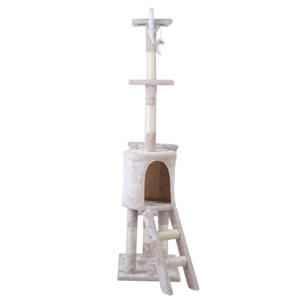 Cat-Tree-Scratching-Post-Activity-Centre-Grey-Fun-Play-House-143cm-4-colour thumbnail 31