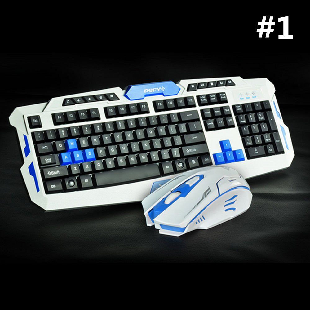 LOT Gaming Wireless 2.4G Keyboard and Mouse for Computer PC Multimedia Gamer TO 25