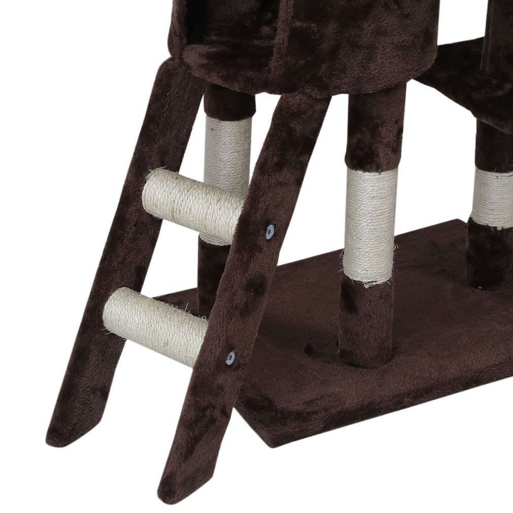 Cat-Tree-Scratching-Post-Activity-Centre-Grey-Fun-Play-House-143cm-4-colour thumbnail 45