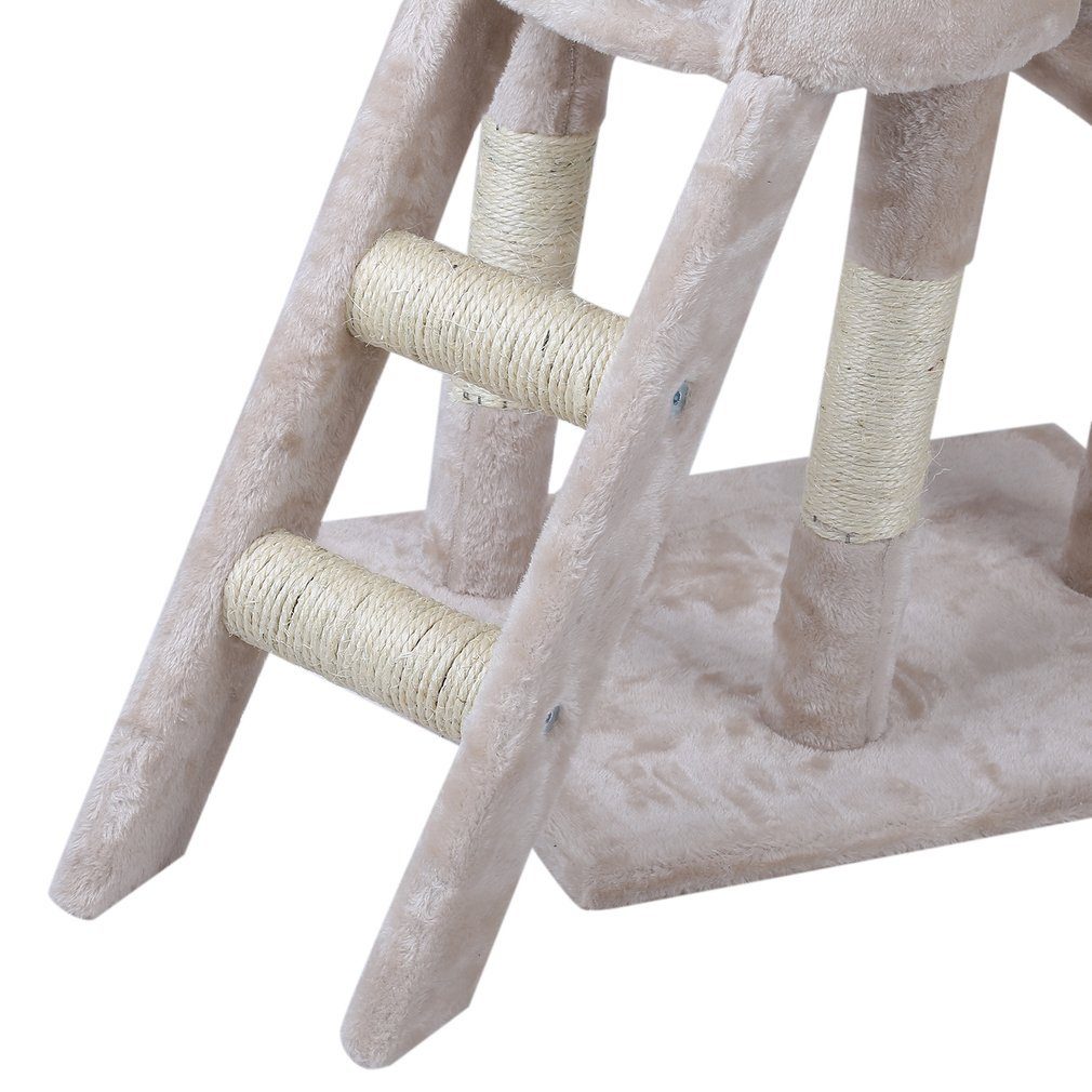 Cat-Tree-Scratching-Post-Activity-Centre-Grey-Fun-Play-House-143cm-4-colour thumbnail 34