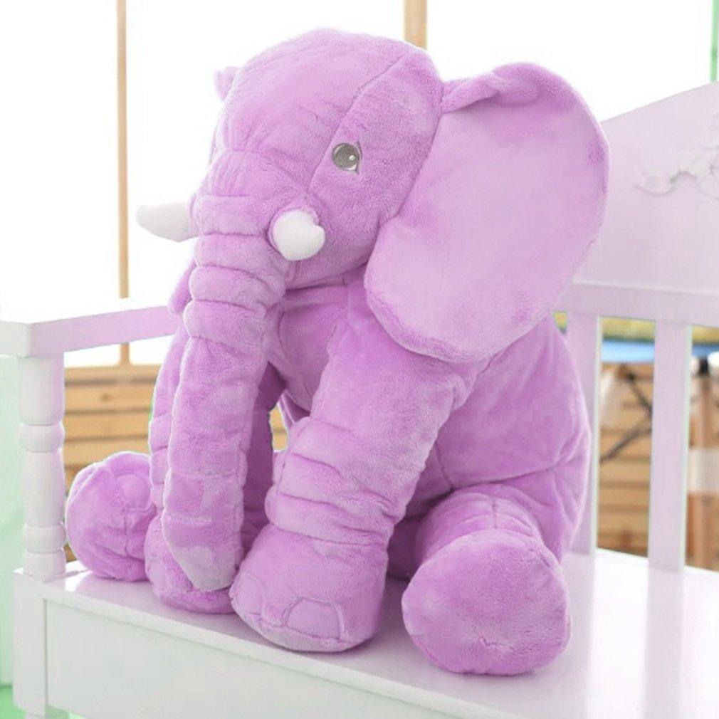 Peluche-Poupee-elephant-Nez-Longue-Oreiller-Peluche-Coussin-Bebe-Enfant-Cadeau-F