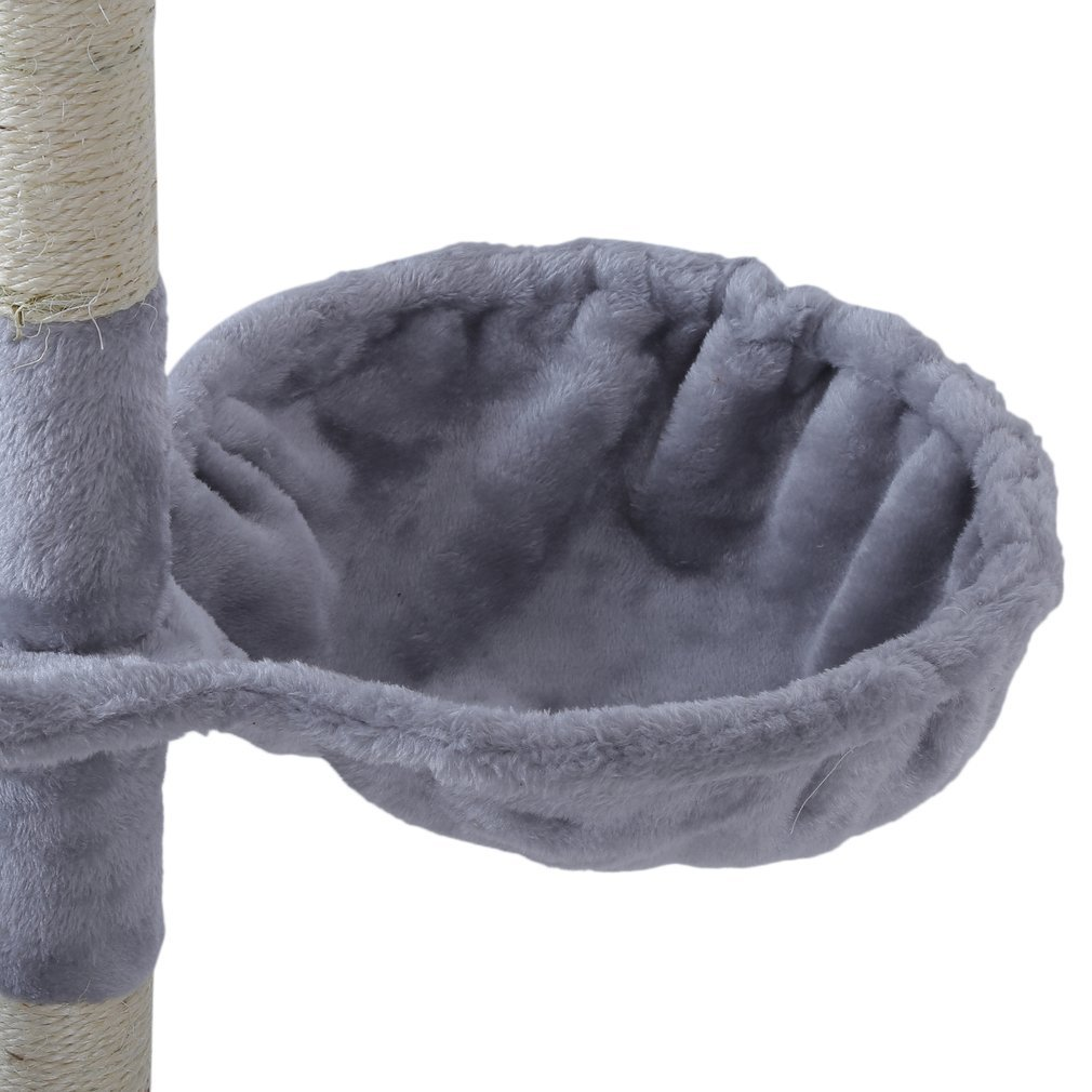 Cat-Tree-Scratching-Post-Activity-Centre-Grey-Fun-Play-House-143cm-4-colour thumbnail 12