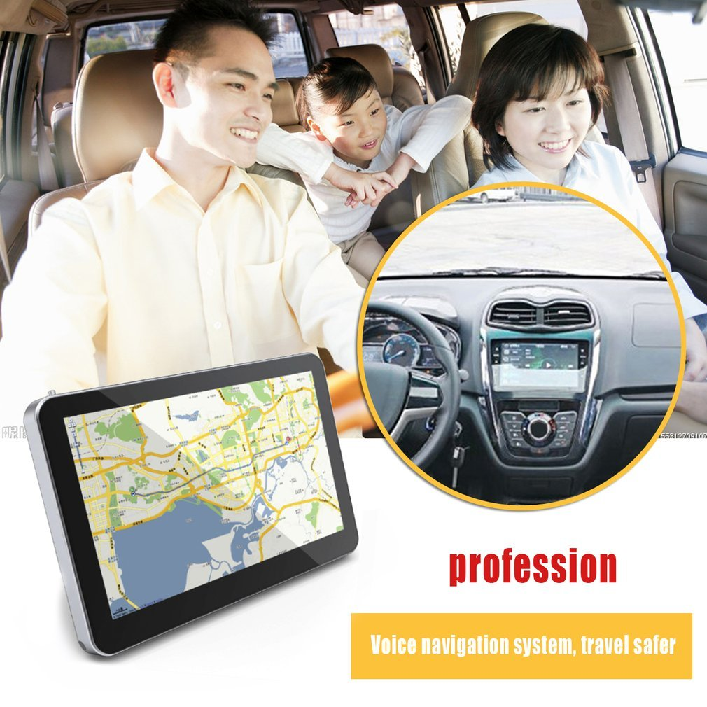 8GB Memory 5-Inch Touch Screen GPS European Map Navigator 1800mAh Battery GPS ^