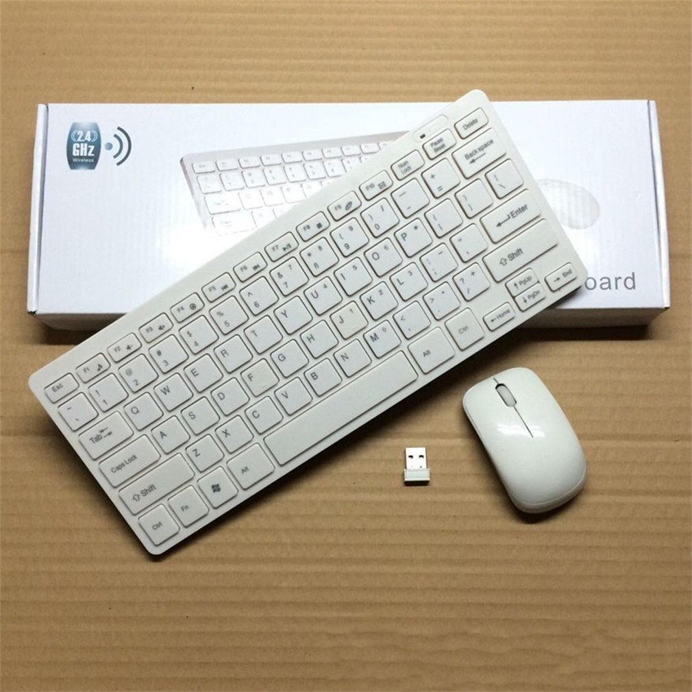 10X 2.4GHz Slim USB Wireless Keyboard And Mouse Set For Laptop PC Apple Mac US 9