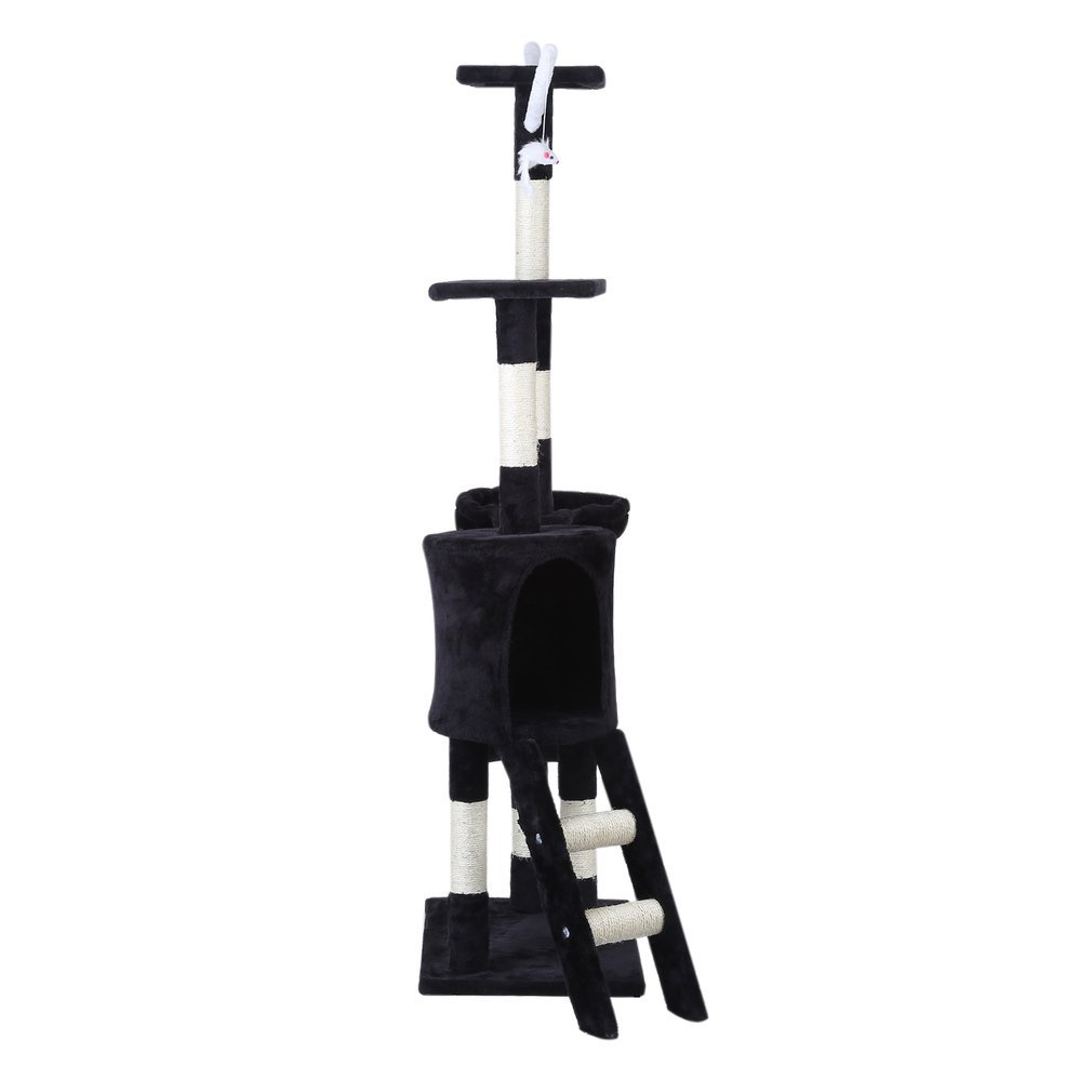 Cat-Tree-Scratching-Post-Activity-Centre-Grey-Fun-Play-House-143cm-4-colour thumbnail 21