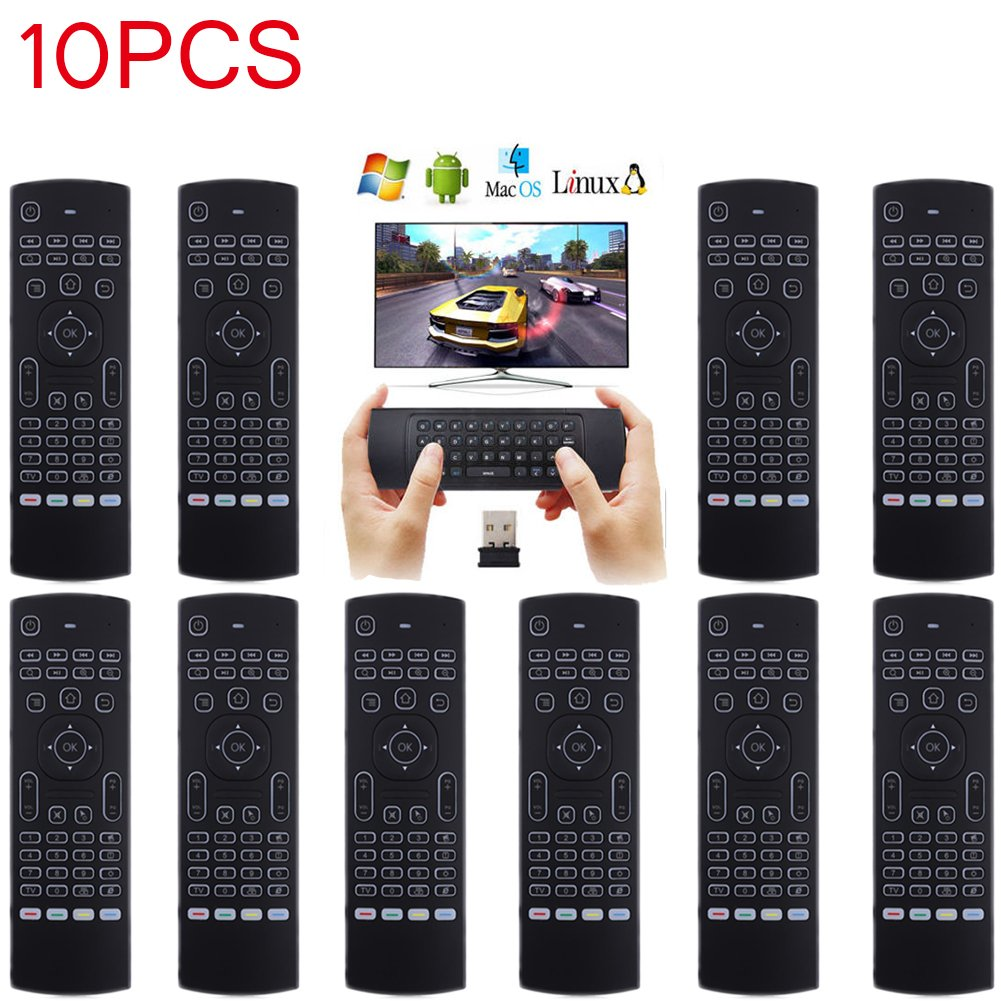 LOT 17 New2.4G Backlight Wireless Remote Control Keyboard forGoogle TV Box OY 33