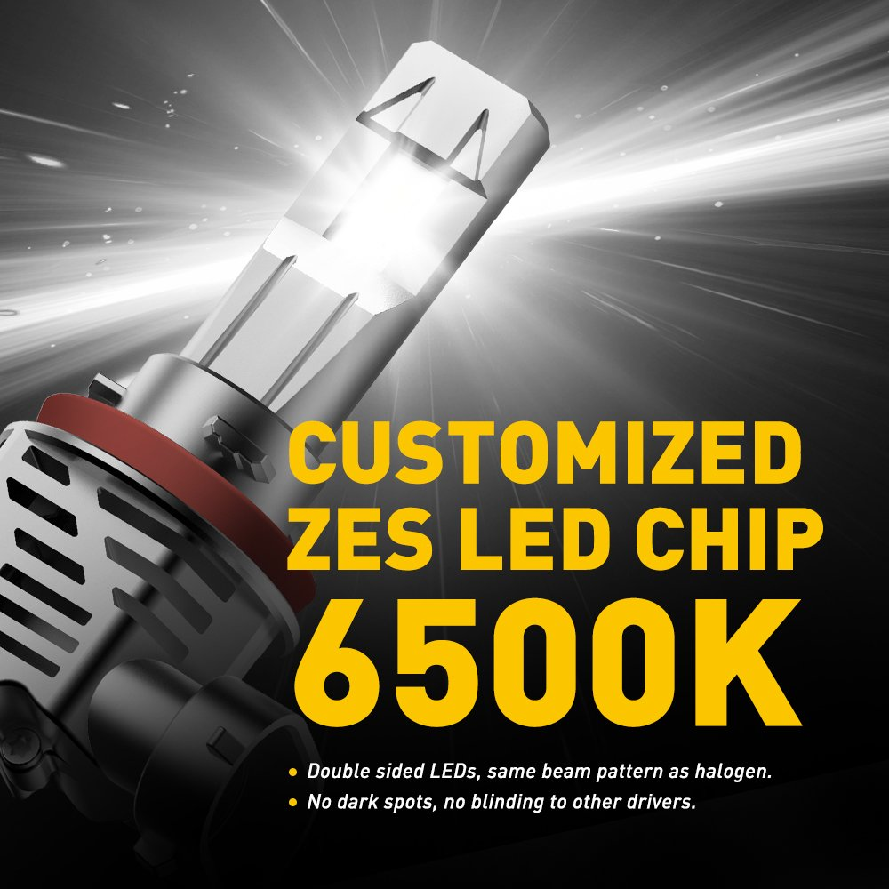 Car CREE LED Headlight kit bulb H8 H11 High Beam or Low Beam No wire Plug/&Play