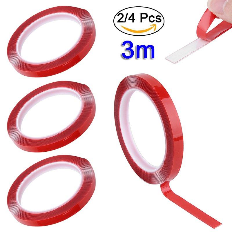 2//4 Pcs 3m Doppelseitiges Klebeband Doppelklebeband Montageklebeband Montageband