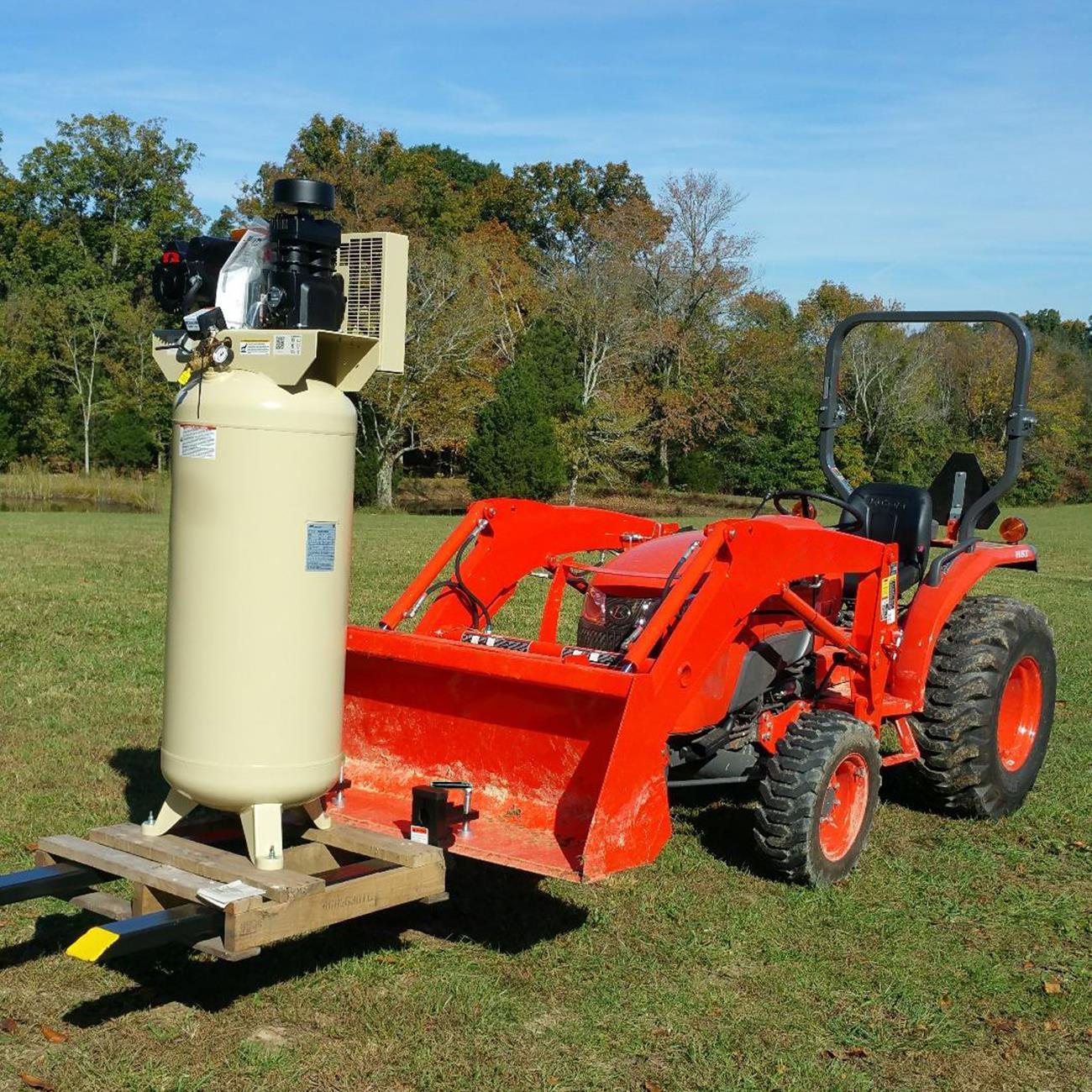 1500lb/3000lb/4000lb Clamp on Pallet Forks Loader Bucket Tractor Stabilizer Bar