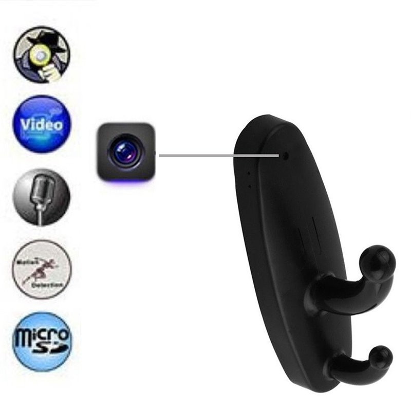 Motion Detection Clothes Hook Hidden Camera DVR Cam Wireless Remote Control
