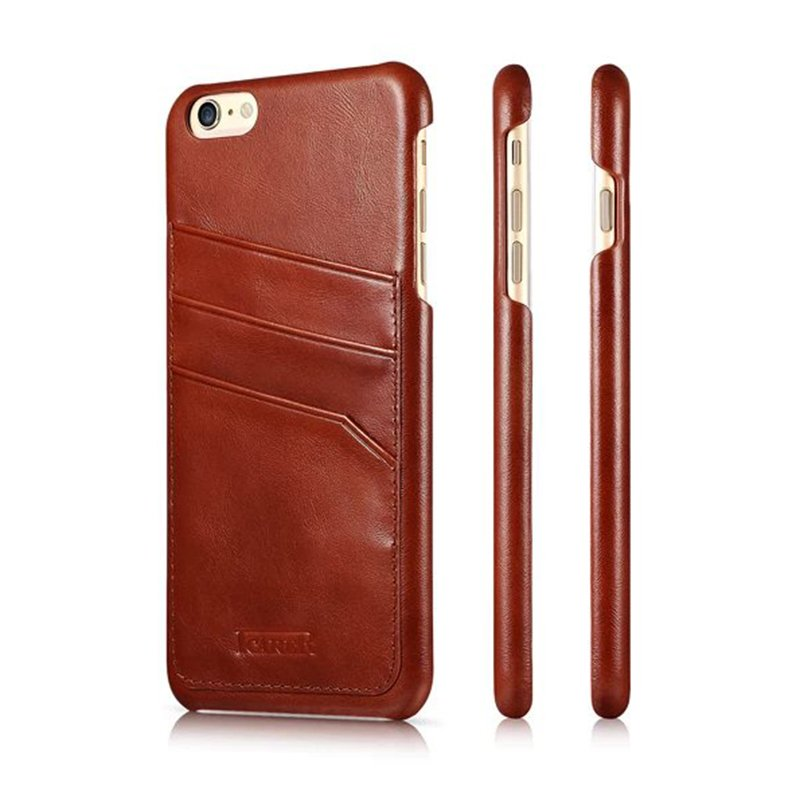 Genuine-ICARER-Leather-Wallet-Card-Case-Cover-Skin-For-iPhone-6-6s-Plus-6-5-5-039-039