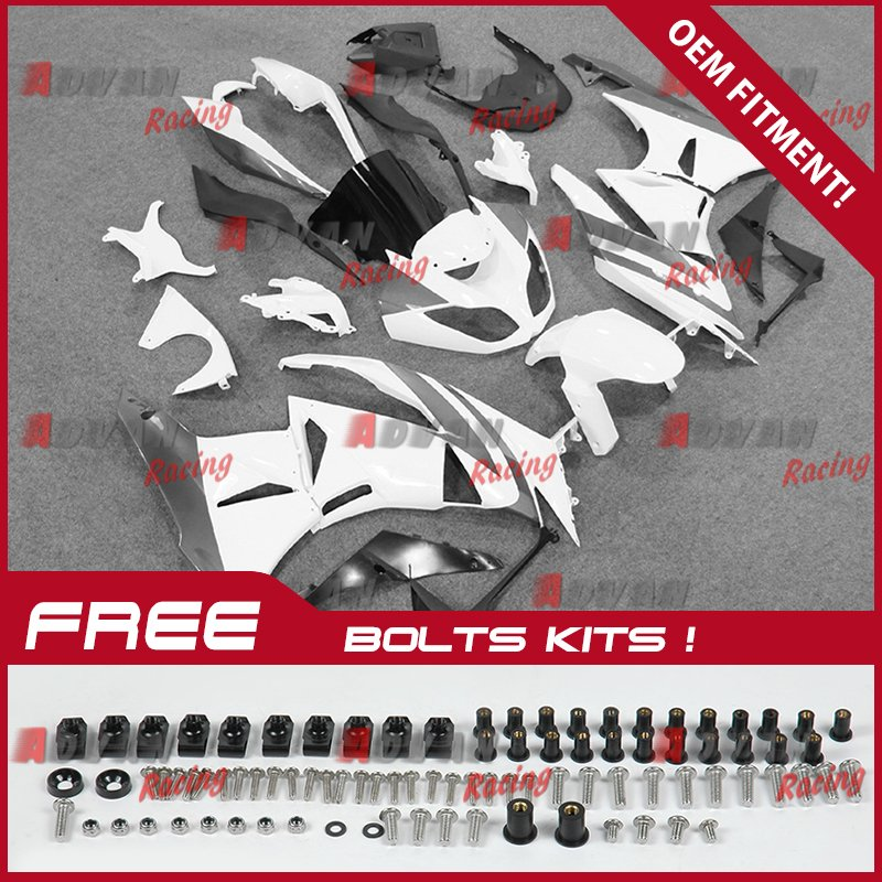 Fit-Kawasaki-Ninja-ZX6R-2009-2012-Fairings-Bolts-Screws-Set-Bodywork-Plastic-06