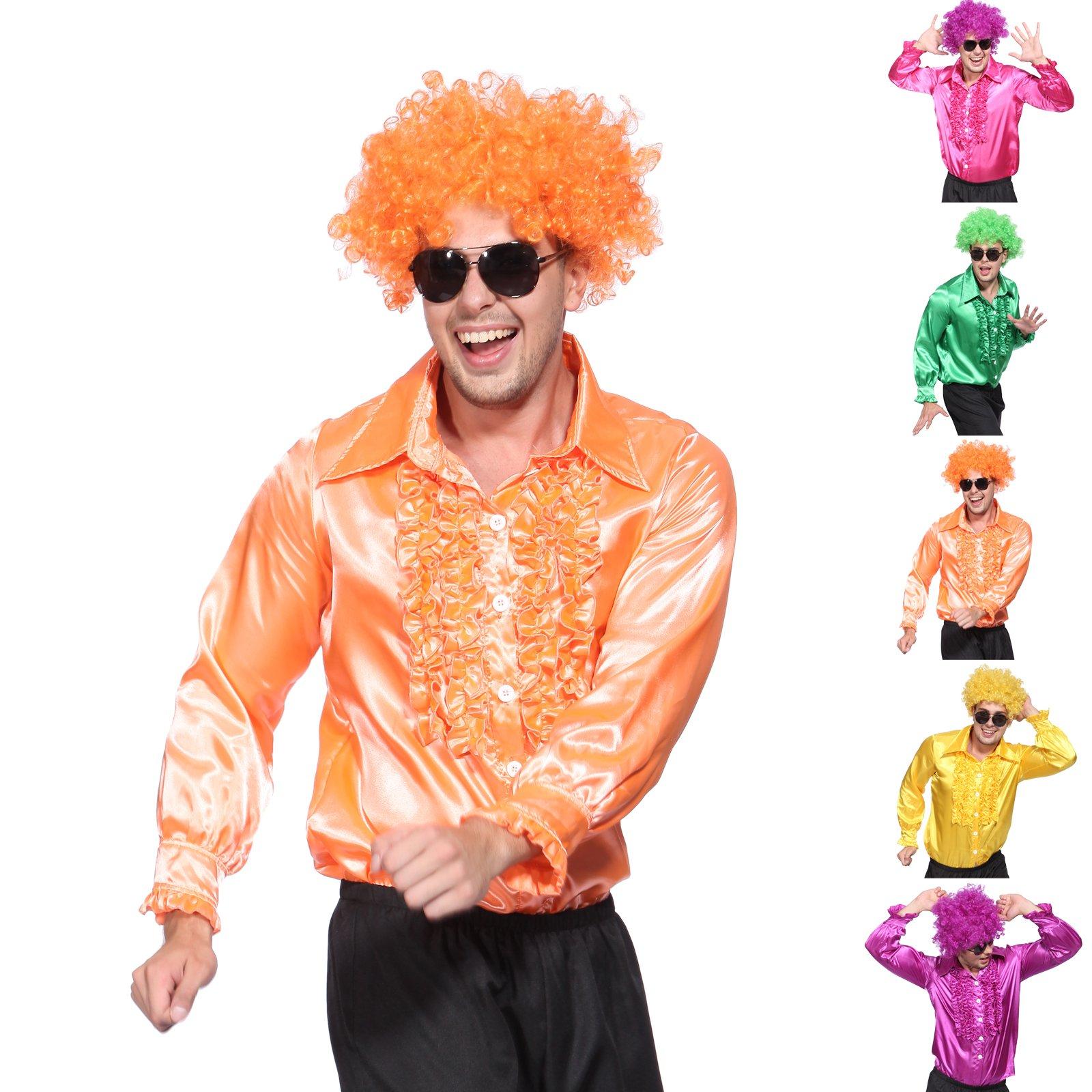 mega farbe r schenhemd schlagerhemd herrenhemd karneval gruppenkost m outfit ebay. Black Bedroom Furniture Sets. Home Design Ideas