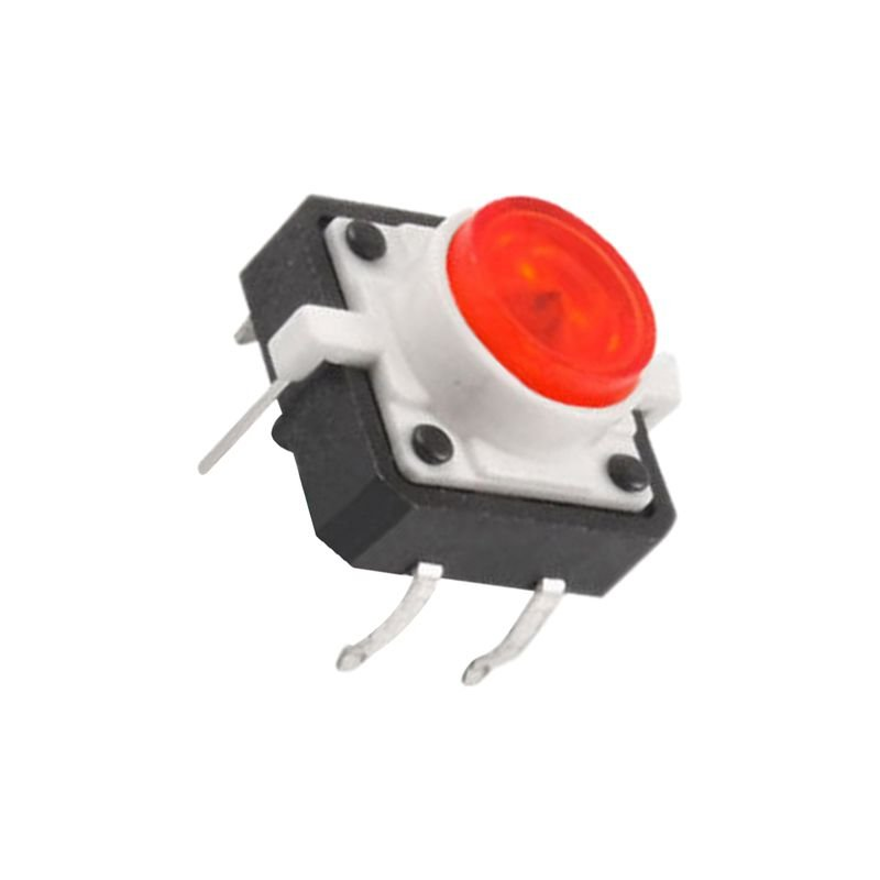 5 X Tactile Push Button Switch Momentary Tact LED 12X12 Round Cap red Y9N8 3