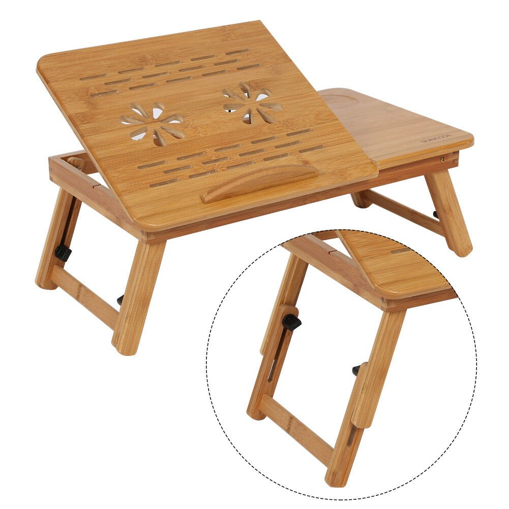 Portable Folding Adjustable Table Bed Desk Stand For Computer Laptop Notebook PC