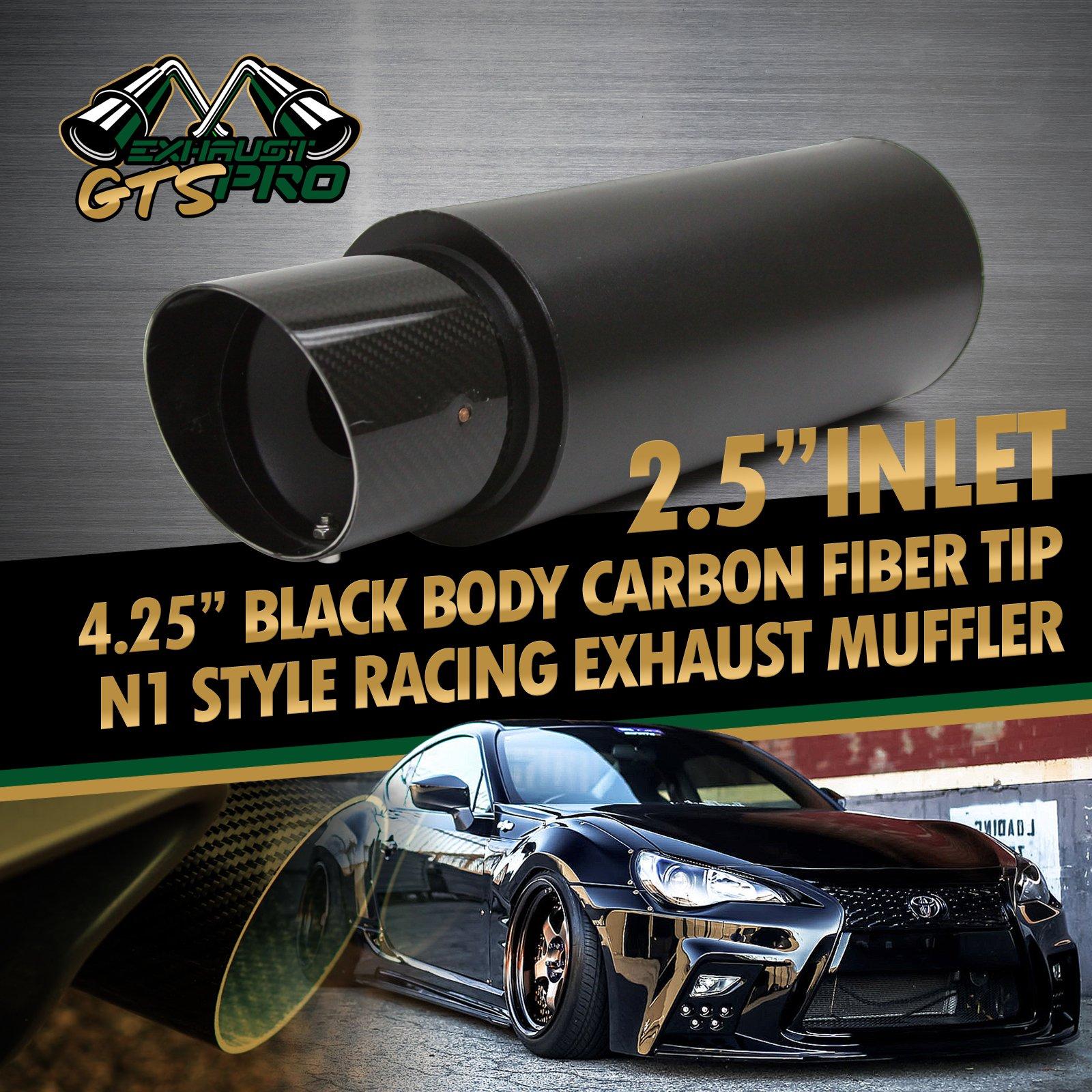 "FOR JPN CAR! 1X USA N1 STYLE DEEP TONE TRACK RACE EXHAUST MUFFLER +4.25"" CF TIP"