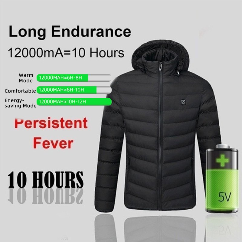Electric Heated Jacket Unisex Waterproof Rechargeable Heated Jacket