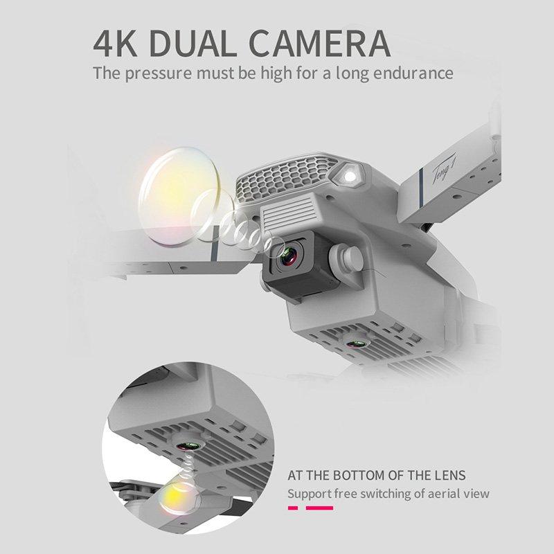 4K HD Drone X Pro Dual Camera WIFI FPV Foldable Mini Selfie RC Quadcopter 6 Axis