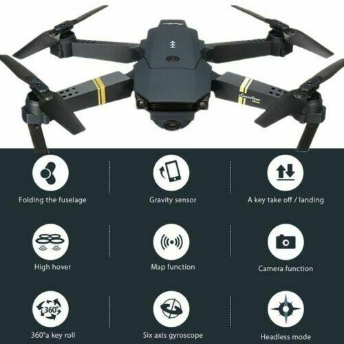 Drone X Pro WIFI FPV 4K HD Camera 3 Batteries Foldable Selfie RC Quadcopter