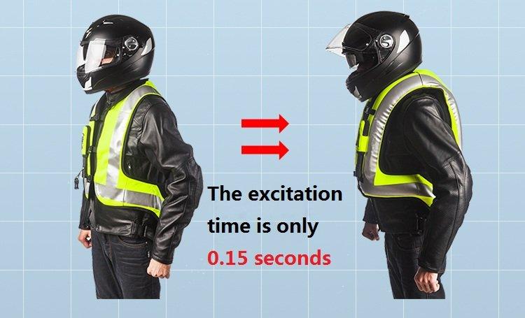 Airbag Motorcycle Airnest Air Bag Safety Vest Hi Visibility S/M/L/XL/2XL/3XL