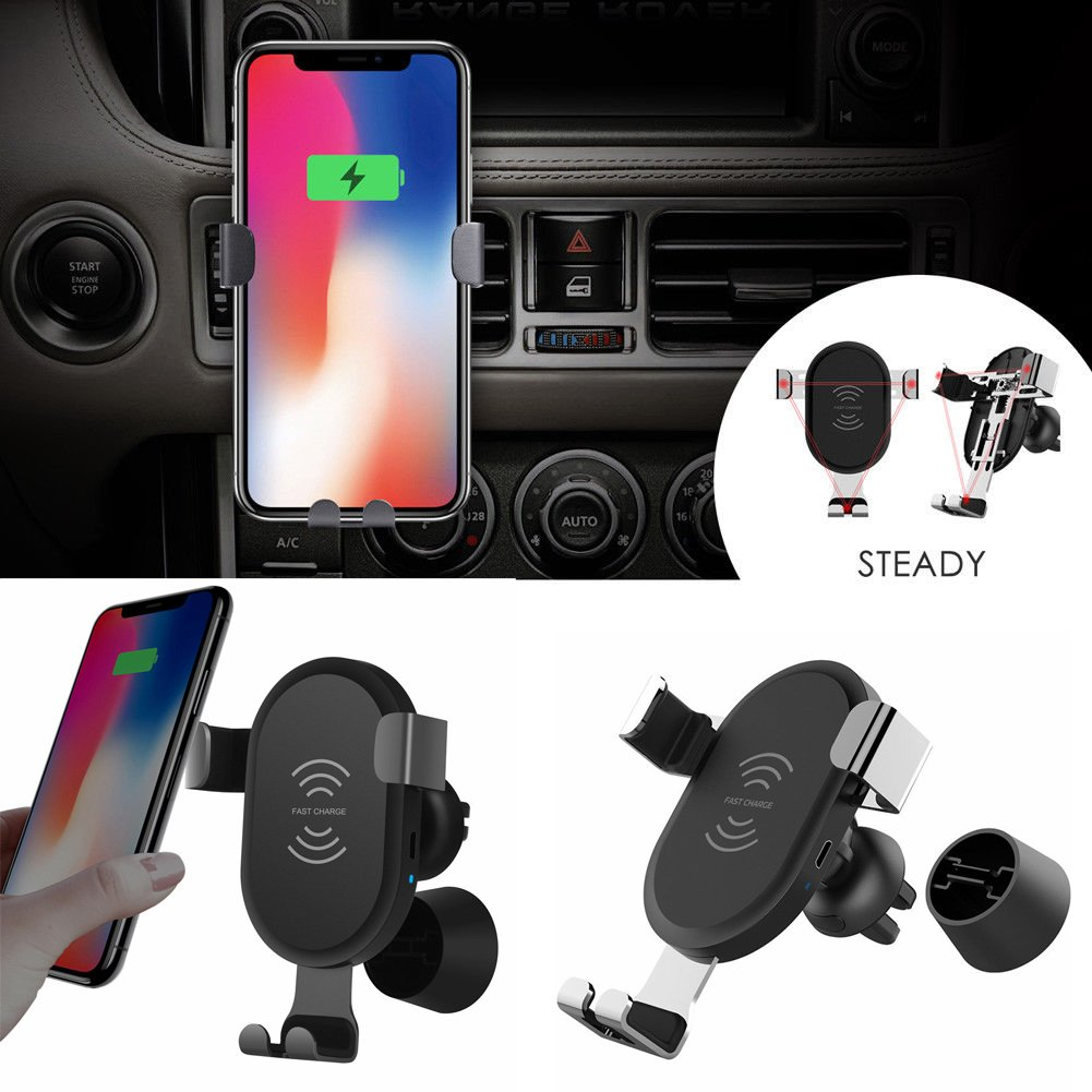 qi wireless charger auto kfz handy halterung halter induktives ladeger t de ebay. Black Bedroom Furniture Sets. Home Design Ideas