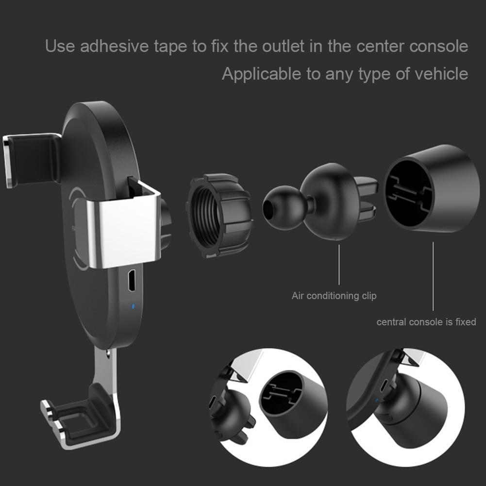 qi wireless charger auto kfz handy halterung halter induktives ladeger t de ebay. Black Bedroom Furniture Sets. Home Design Ideas